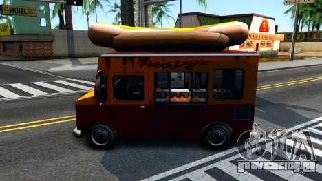 New HotDog Van для GTA San Andreas вид справа