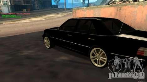 Mercedes-Benz W124 E500 Armenian для GTA San Andreas вид сзади слева