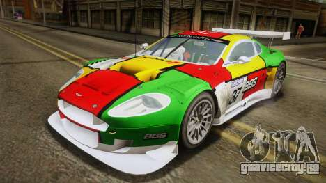 Aston Martin Racing DBR9 2005 v2.0.1 YCH Dirt для GTA San Andreas салон