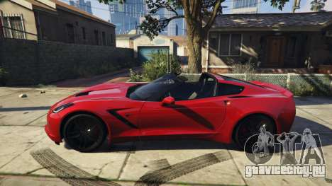 2014 Chevrolet Corvette C7 Stingray для GTA 5 вид слева