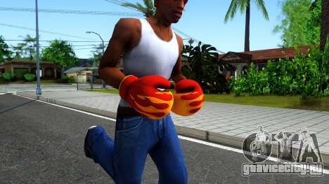 Red With Flames Boxing Gloves Team Fortress 2 для GTA San Andreas второй скриншот