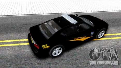 Bravado Buffalo State Patrol 2013 для GTA San Andreas вид сзади