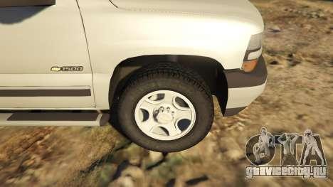 2000 Chevrolet Silverado 1500 для GTA 5 вид сзади