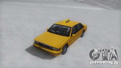 Taxi Winter IVF для GTA San Andreas вид справа