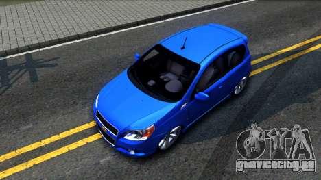 Chevrolet Aveo 2012 для GTA San Andreas вид сзади