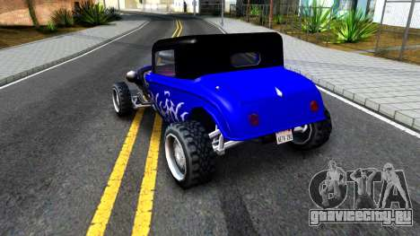 Duke Blue Hotknife Race Car для GTA San Andreas вид справа