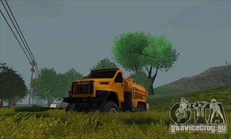 Ural Next Бензовоз для GTA San Andreas вид сзади слева