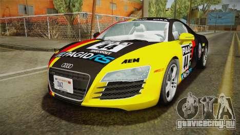 Audi R8 Coupe 4.2 FSI quattro US-Spec v1.0.0 YCH для GTA San Andreas вид снизу