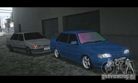 ВАЗ 2115 Синька для GTA San Andreas вид слева