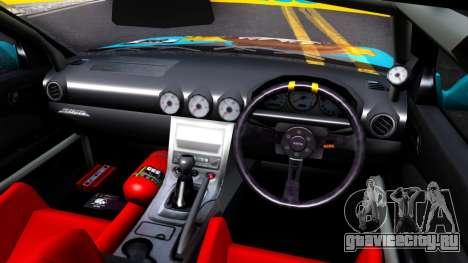 Taneshima Popura NISSAN Silvia S15 Itasha для GTA San Andreas вид изнутри