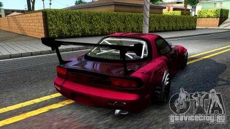 Mazda RX-7 Madbull Rocket Bunny для GTA San Andreas вид сзади слева