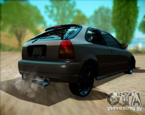 Honda Civic Hatchback для GTA San Andreas вид справа