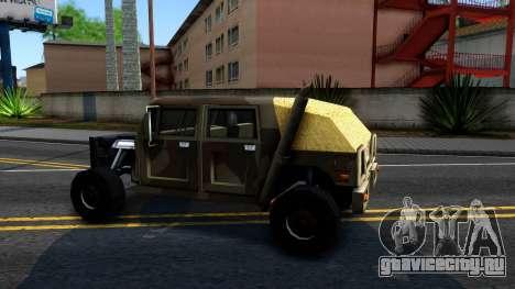 New Patriot GTA V для GTA San Andreas вид слева