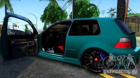 VW Golf 4 для GTA San Andreas вид изнутри