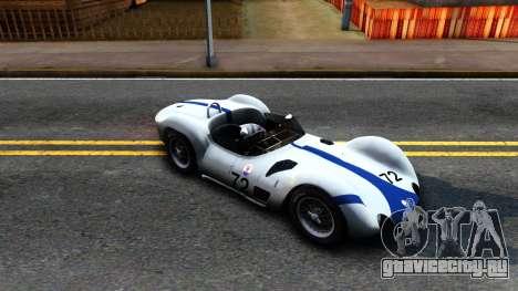 Maserati Tipo 61 для GTA San Andreas вид слева