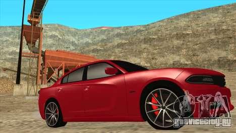 Dodge Charger R/T 2015 для GTA San Andreas вид слева