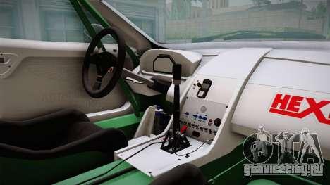 Aston Martin Racing DBRS9 GT3 2006 v1.0.6 YCH v2 для GTA San Andreas вид изнутри