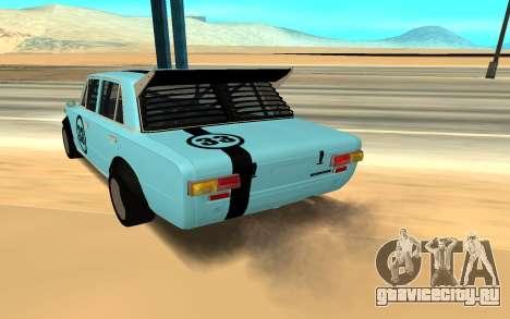 VAZ 2101 Autosport для GTA San Andreas вид сзади слева
