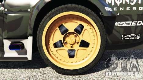 Ford Mustang 1965 Hoonicorn drift [add-on] для GTA 5 вид сзади справа