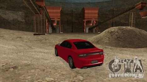 Dodge Charger R/T 2015 для GTA San Andreas вид сзади слева