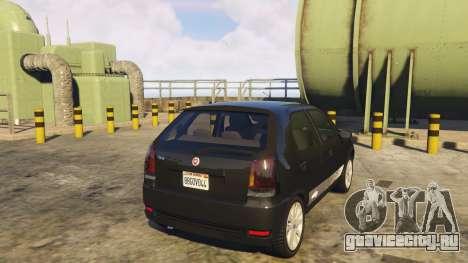 Fiat Palio Way Brasil 2015 для GTA 5 вид сзади слева