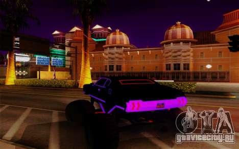 Cyber Sabre XL для GTA San Andreas вид сзади слева