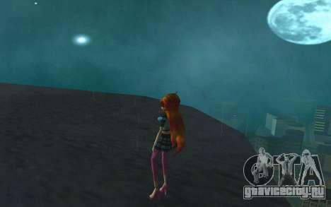 Bloom Rock Outfit from Winx Club Rockstar для GTA San Andreas третий скриншот
