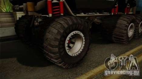 Hummer H2 6x6 Monster для GTA San Andreas вид сзади
