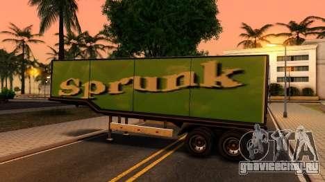 Box Trailer V2 для GTA San Andreas вид справа