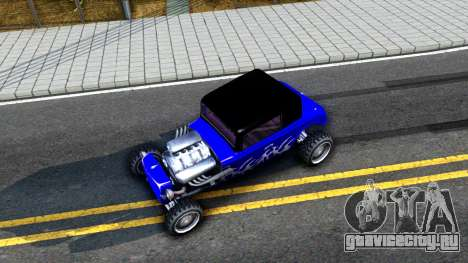 Duke Blue Hotknife Race Car для GTA San Andreas вид сзади