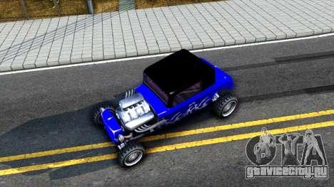 Duke Blue Hotknife Race Car для GTA San Andreas вид сзади