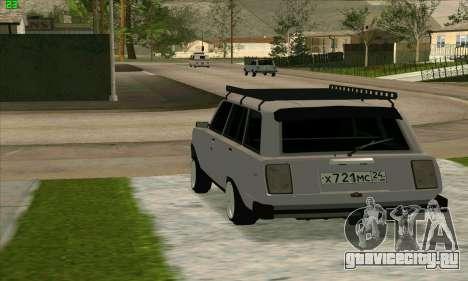 ВАЗ 2104 Красноярский Azelow style для GTA San Andreas вид слева