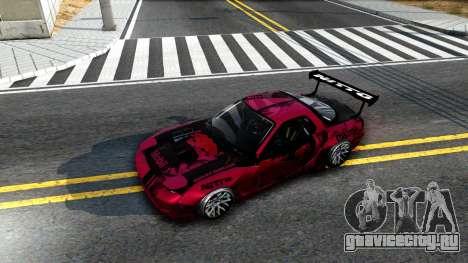 Mazda RX-7 Madbull Rocket Bunny для GTA San Andreas вид сзади