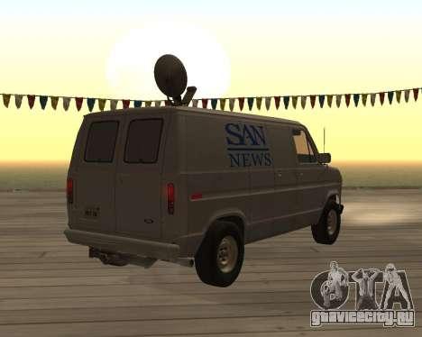 Е150 Форд Фургон для GTA San Andreas вид сзади слева