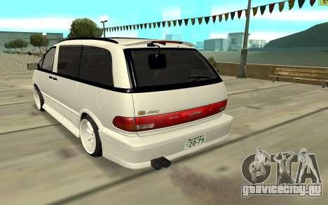 Toyota Estima для GTA San Andreas вид сзади слева