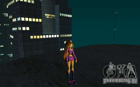 Flora Rock Outfit from Winx Club Rockstars для GTA San Andreas