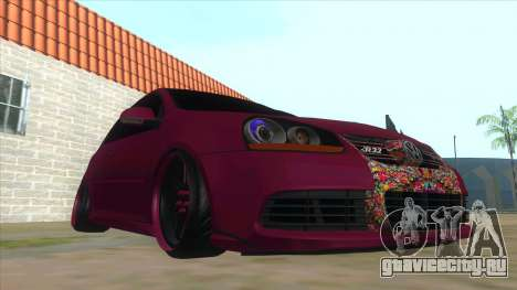 Volkswagen Golf MK для GTA San Andreas вид сзади