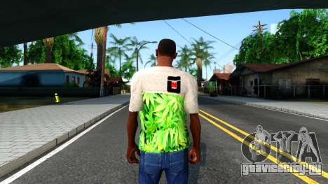 Design Weedleaves T-Shirt для GTA San Andreas третий скриншот