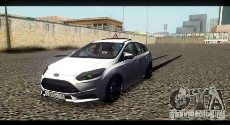 Ford Focus ST 2013 Учебный для GTA San Andreas вид сзади