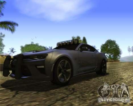 Chevrolet Camaro SS Xtreme для GTA San Andreas вид изнутри