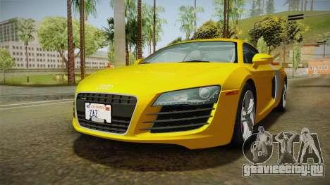 Audi R8 Coupe 4.2 FSI quattro US-Spec v1.0.0 для GTA San Andreas