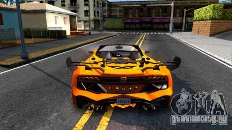GTA V Pegassi Lampo Roadster для GTA San Andreas вид сзади слева