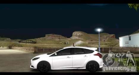 Ford Focus ST 2013 Учебный для GTA San Andreas вид слева