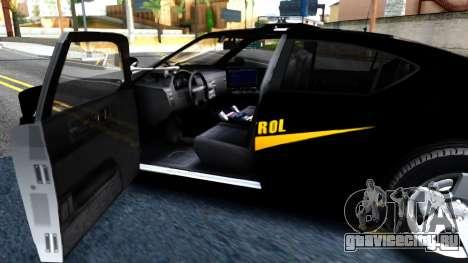 Bravado Buffalo State Patrol 2013 для GTA San Andreas вид изнутри