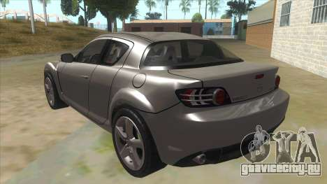 NFS PRO STREET: Mazda RX-8 Tunable для GTA San Andreas вид сзади слева