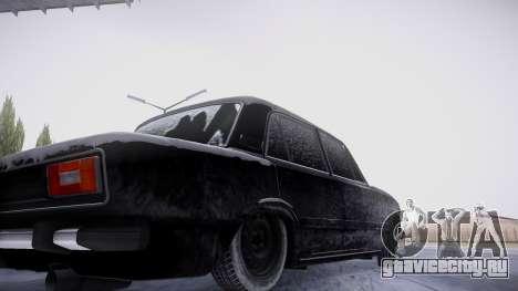 ВАЗ 2106 зимняя версия для GTA San Andreas вид изнутри