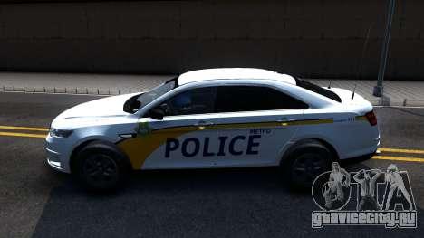 Ford Taurus Slicktop Metro Police 2013 для GTA San Andreas вид слева