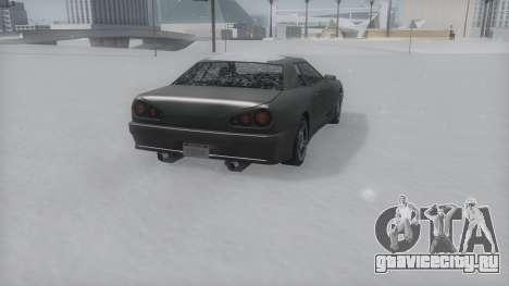 Elegy Winter IVF для GTA San Andreas вид сзади слева