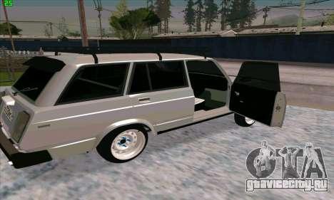 ВАЗ 2104 Красноярский Azelow style для GTA San Andreas вид сзади слева