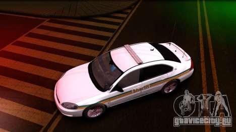 2008 Chevrolet Impala LTZ County Sheriff для GTA San Andreas